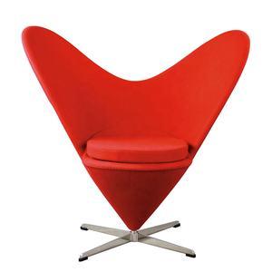 Modern Sweety Design Metal Legs Swivel High Chair Fabric Heart Shaped Cone Chair