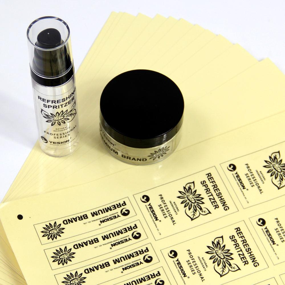Nueva mascota material de vinilo etiquetas de embalaje troquelado adhesivo etiqueta engomada de la etiqueta