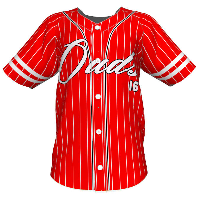 Baseball & Softball Wear Full Sublimated Blank Design Red Stripe Unisex Sportswear Custom Baseball Jersey