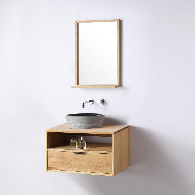 Wholesale Stone Sink Modern Style and Wall Mounted Installation Type Hotel Bathroom Vanity