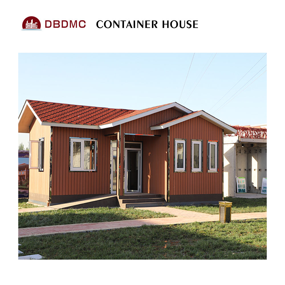 20' prefab bungalow steel frame sea container tent house
