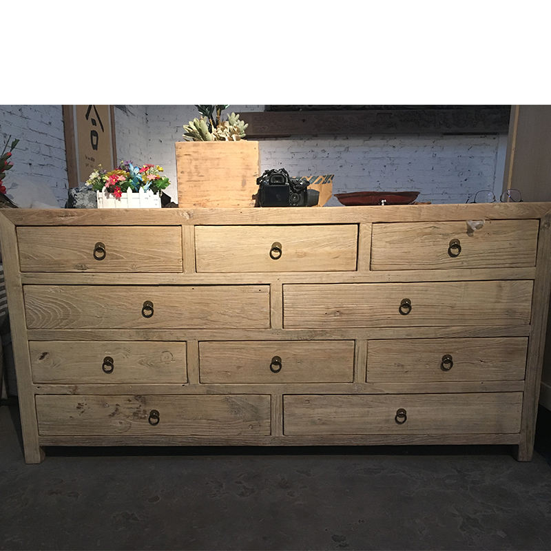 Chinese Furniture Antique Cabinet Vintage Distressed Chest Drawer