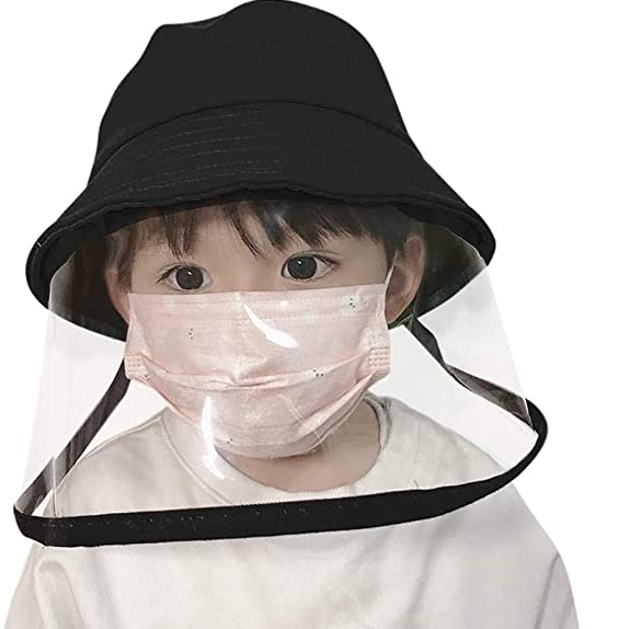children Hat Baby Sunscreen Full Protective Cover Removable Kids Face Shield cap