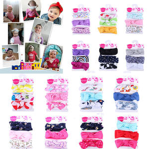 Kids Headband Bow For Girl Baby Hair Band 3Pcs Kids Floral Headband Girls Baby Elastic Bowknot Accessories Hairband Set