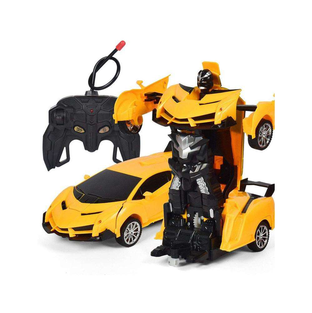 <span class=keywords><strong>2</strong></span> In 1 Transformatie Afstandsbediening Auto Een Sleutel Vervorming Robot Kinderen <span class=keywords><strong>Speelgoed</strong></span> Geel