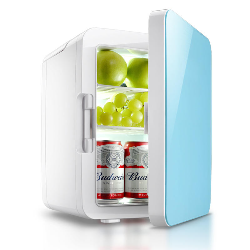 10L Mini Fridge for Skincare Portable Mini Fridge with Glass Door