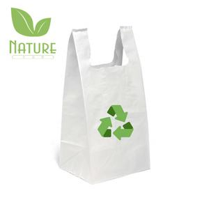 Free Sample 100% Biodegradable Handles Supermarket Recycle Grocery Shopping Bag