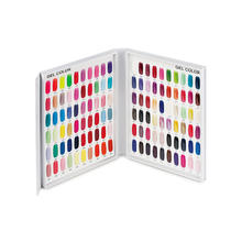 Private Label 120 pc Nail Gel Polish Color Card Display Chart Book Showing Shelf Book For Nail Art Salon