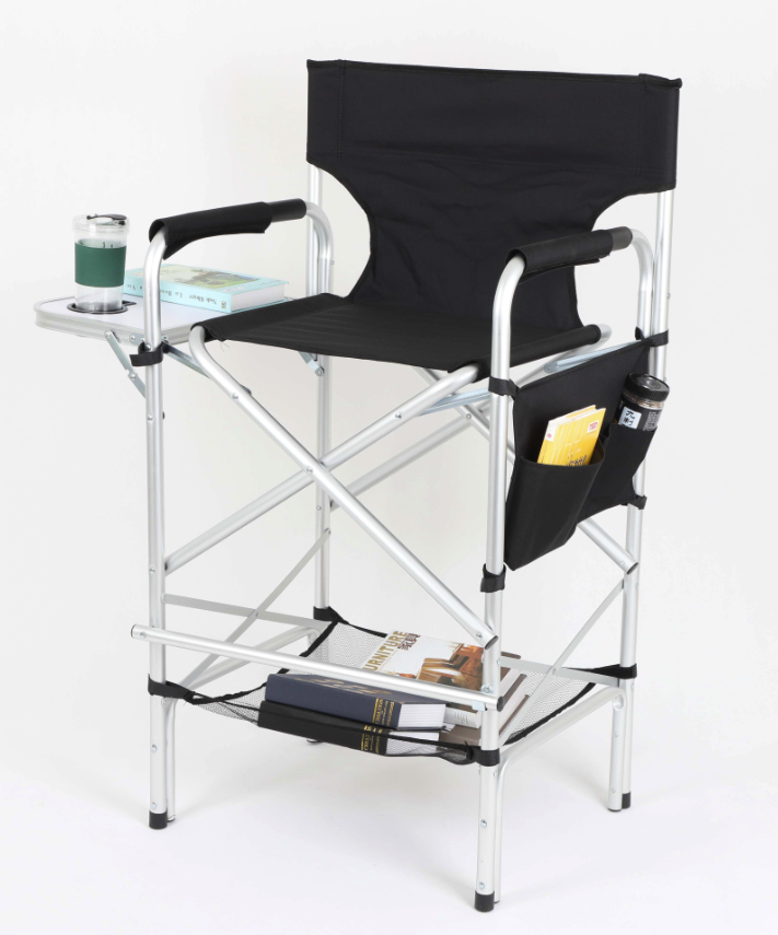 Folding Portable Upgraded Director Makeup Artist Chair