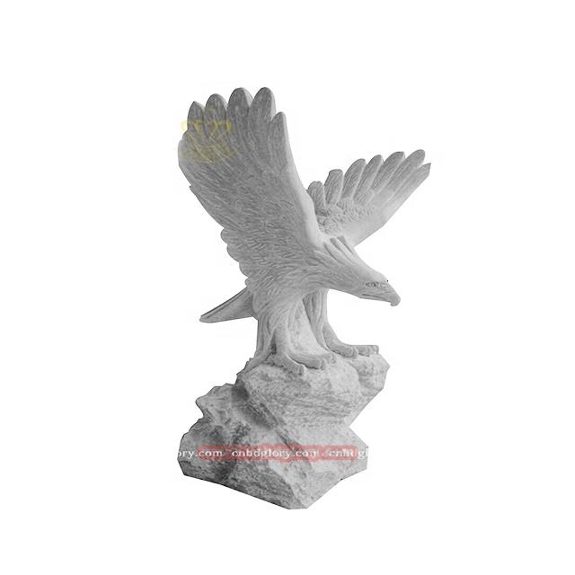 Natural Stone Polishing Cheap Onyx Hand Carved Decorative Eagles Statue