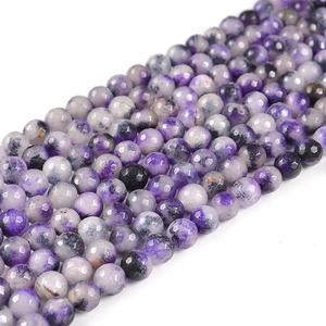 Faceted gemstone beads wholesale, natural stone loose beads for jewelry making