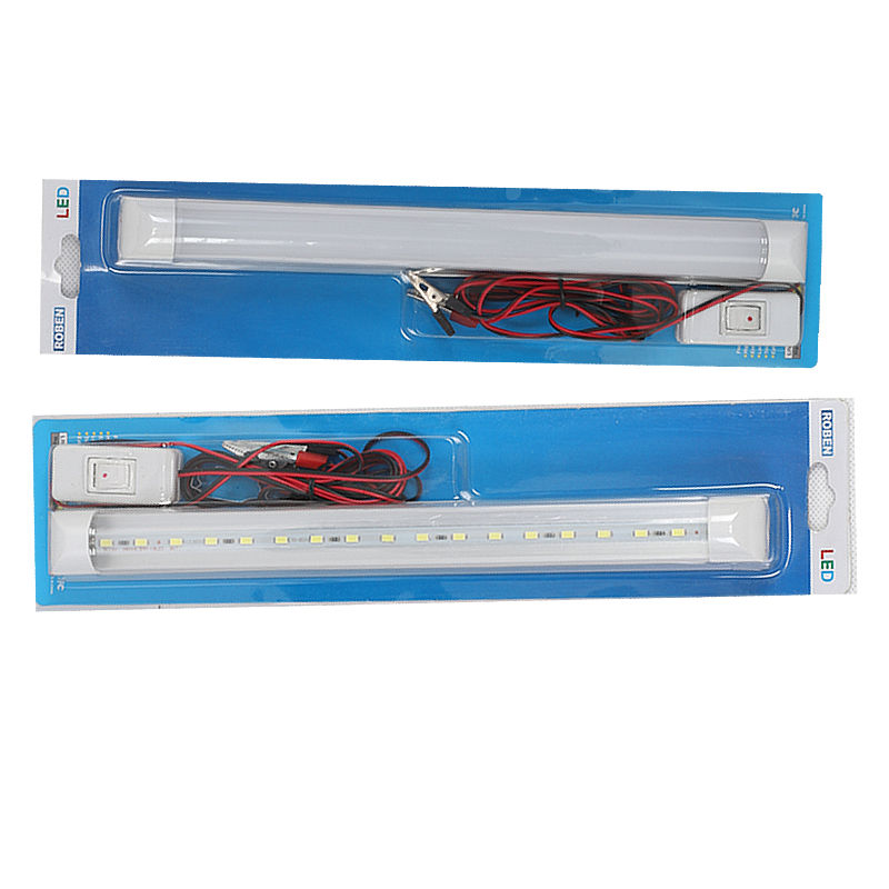 Promotion 12V led tube t8 0.5ft 1ft With 2 m wire clip and switch button for outdoor lighting