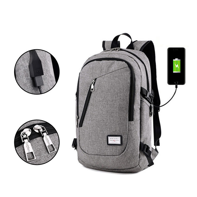 Y0099 Fashion oxford waterproof durable school bag back packs laptop smart backpack charger bag