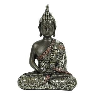 Wholesale tabletop inner heart peaceful Meditating Buddhist Sitting Resin and natural stone Thai buddha Statue