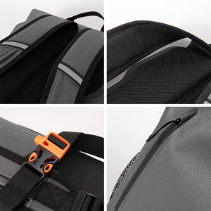 2020 New fashion outdoor sports water repellent polyester adventure custom logo roll-up large cycling welded seamless backpack