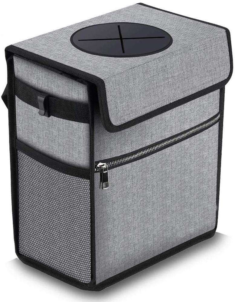 Waterproof collapsible car garbage can grey car seat trash bag