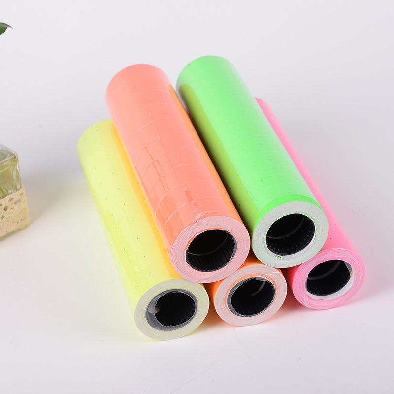 21x12mm Colored self adhesive price label sticker roll for MX5500 single-line price label gun