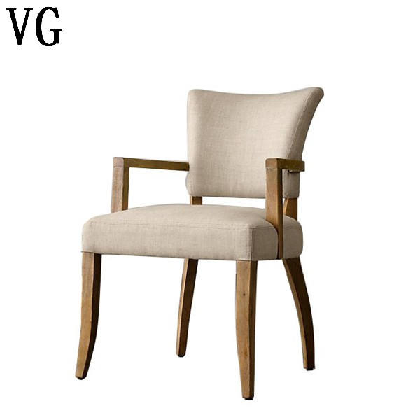 2020 French style Upholstery vintage style dining room furniture wooden armchair