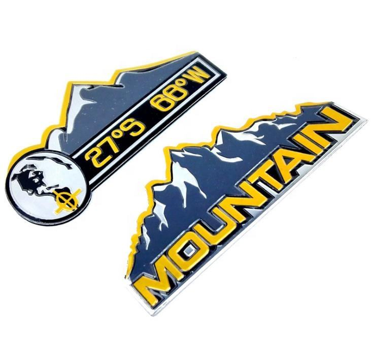 Cross Country Metal MOUNTAIN Custom Car Emblem Badge Sticker Exterior Accessory