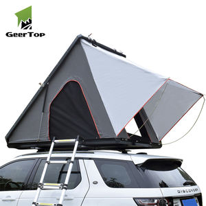 GeerTop Full Aluminum Diagonal Style Shell Hard Shell Rooftop Tent for Suv Car Vehicles