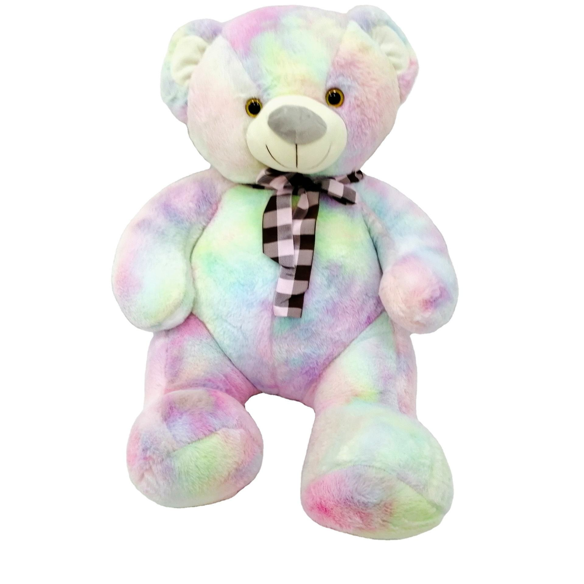 2021 Valentines Gift New fashion hot selling souvenir gift colorful teddy bear plush toy