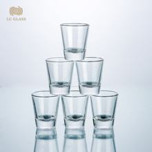 Custom logo high quality glass shot glasses 50ml/1.5oz bullet shot glass