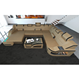 Modern style sofa with LED light sectional U shape sofa for living room