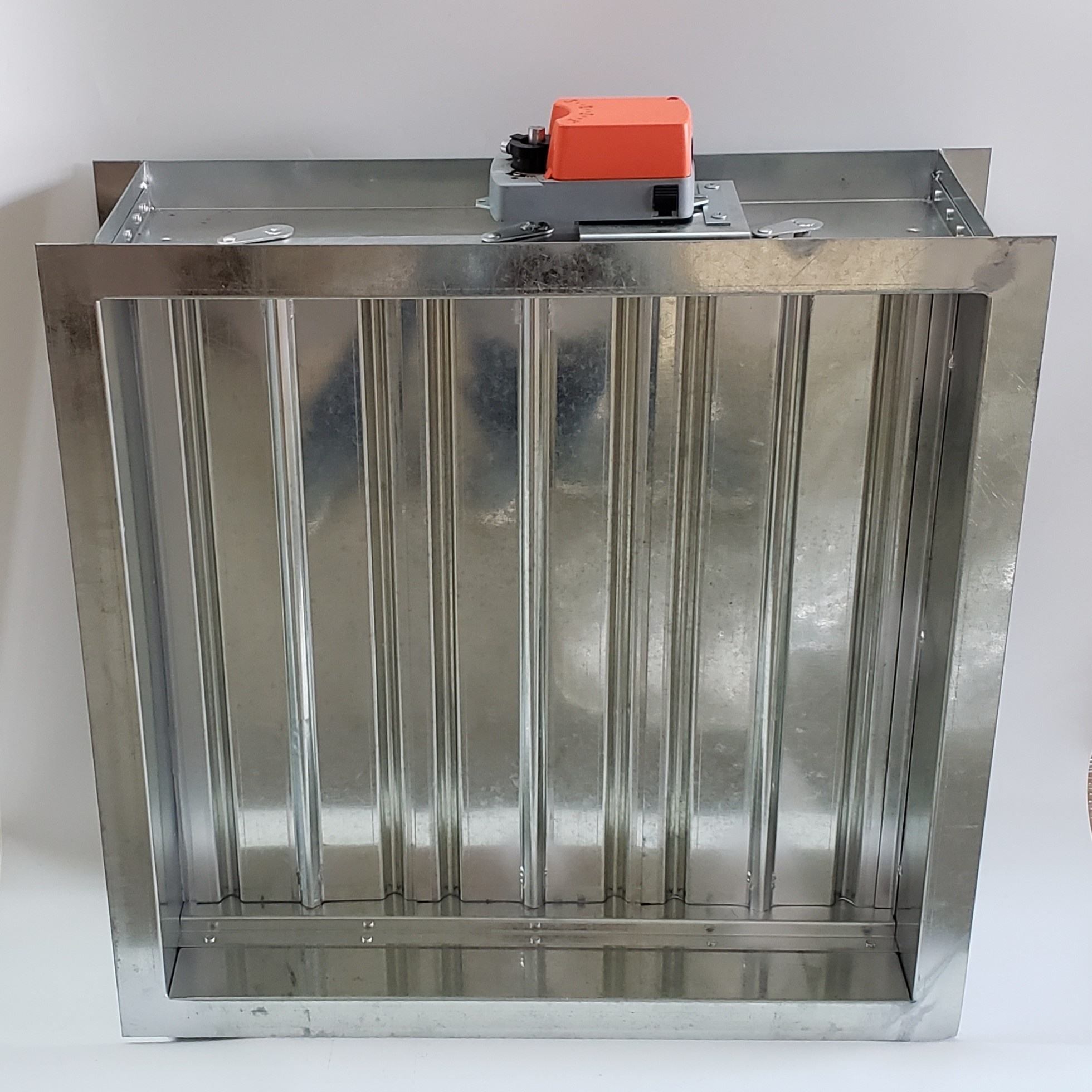 electric 220V motorized air Damper square air duct damper 24v Galvanized Square motor damper