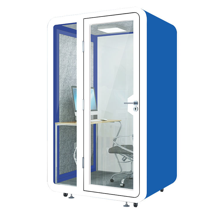Soundproof Office Booth Broadcasting Acoustic Pod Telephone Cabin Mini Sound Insulation Studio Webcasting Movable Meeting Room