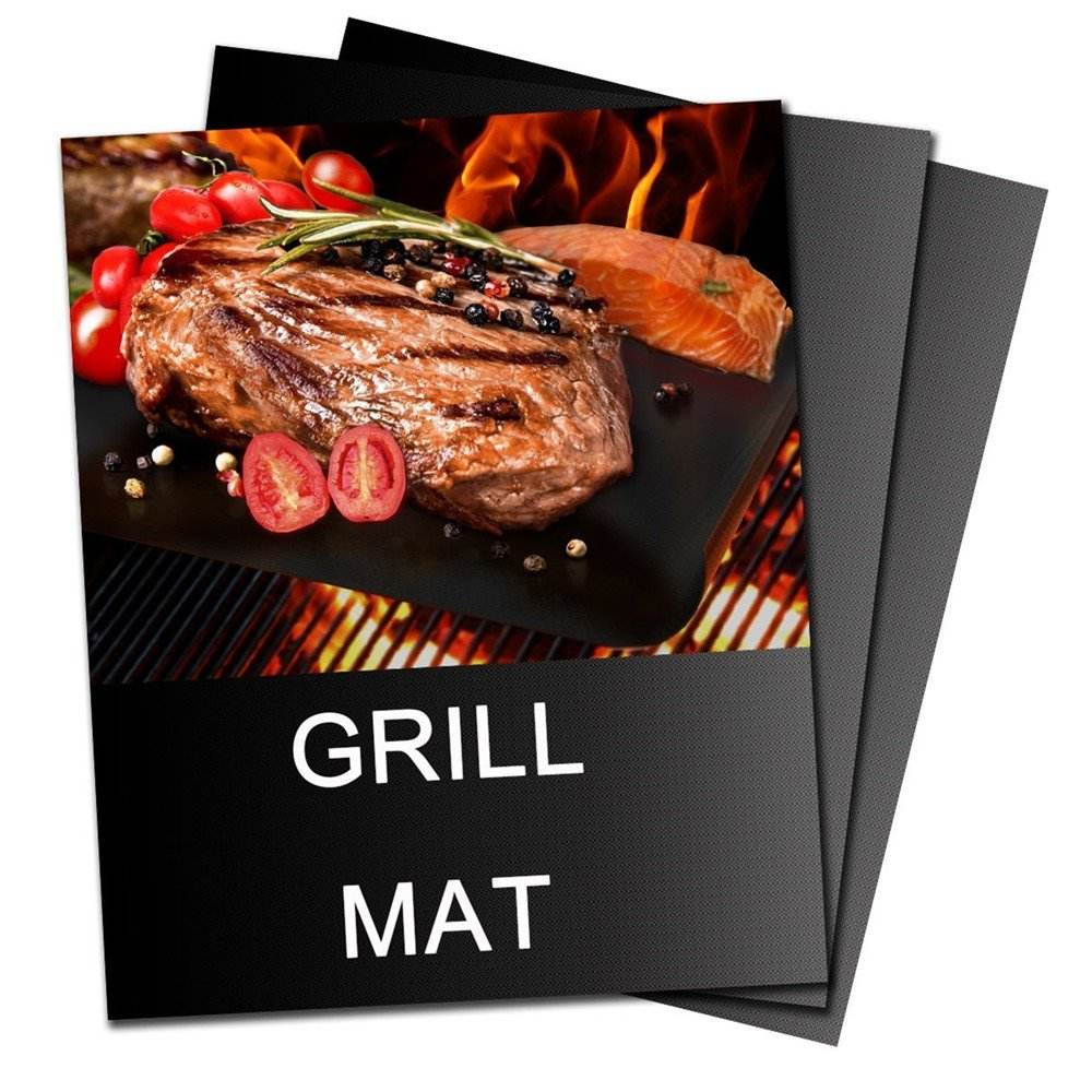 customized fireproof charcoal ptfe non-stick bbq grill mat cooking sheet oven liner
