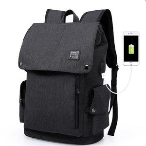 De moda Anti robo impermeable para hombre de negocios ordenador portátil Antitheft mochila bolsa con puerto de carga Usb