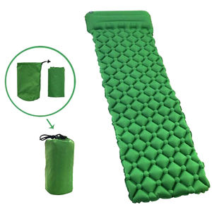 Roll Up Portable Ultralight Waterafstotend Tpu Coating Waterdicht Vochtbestendige Opblaasbare Camping Mat Met Kussen