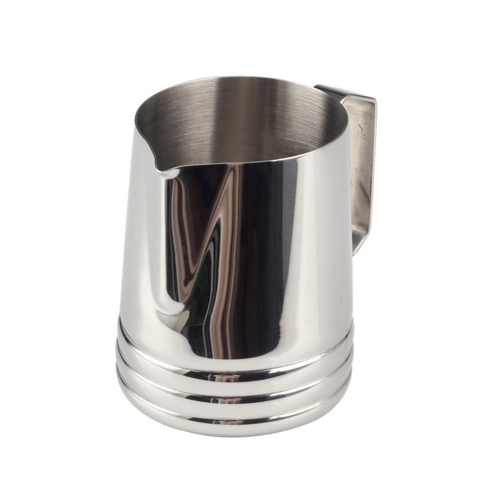 Best Price Hot Sell Stainless Steel Milk Pitcher for Cappuccino Coffee Latte Art,Silver