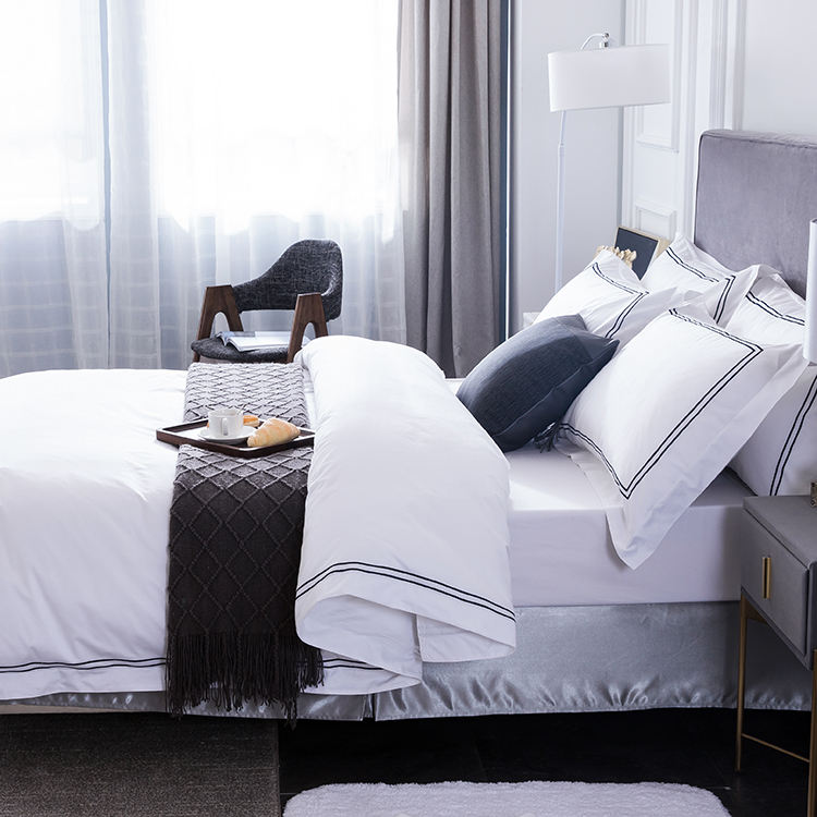 White bedsheet hotel sheet sets bed linen satin hotel