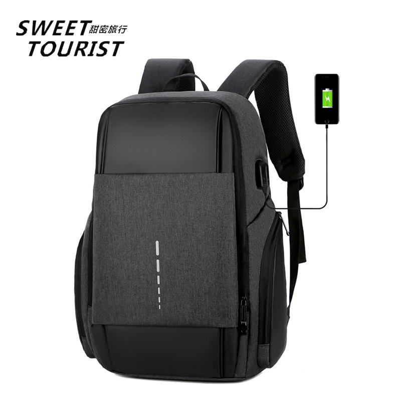 High Quality Waterproof Oxford Business Laptop Backpack 15.6 Trolley Rucksack Men With USB Charging
