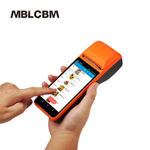 1D barcode scanner pos apparaat android mobiele pos terminal met 58mm printer 4G NFC reader