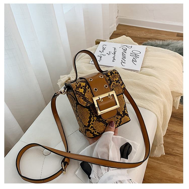Thailand Hot Mini Snake Patroon PU Leather Cross Body Schouder Tote Tas
