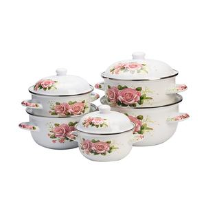 Good design enamel cookware kitchenware dinnerware enamel casserole set