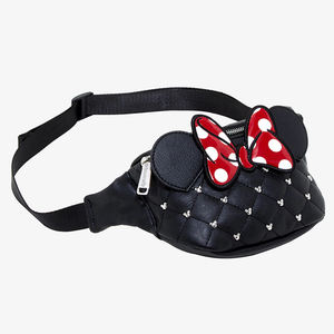 Wholesale custom cute cartoon mickey children waist belt bag leather bum bag waterproof kids fanny pack