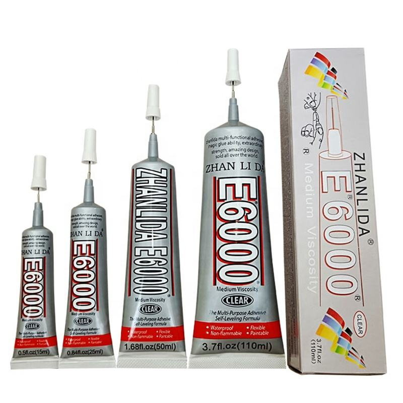 Forware Best E6000 Glue 15ml Industrial Strength Super Adhesive Clear Liquid For Phone Repair or DIY