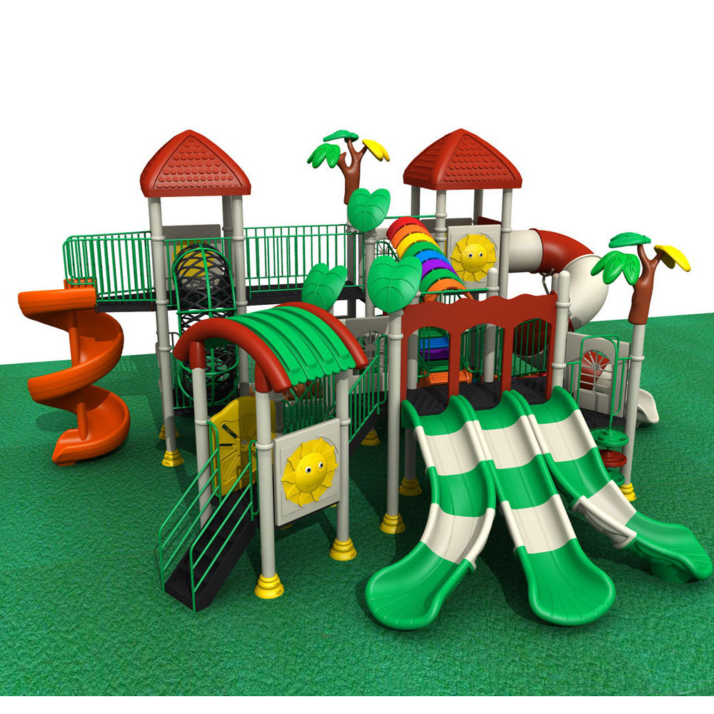 children outdoor play area playground wholesale daycare kids plastic slide swing set for sale