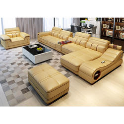 Modern Style Home Furniture Sectionals Couch Sofa Set Living Room Furniture Genuine Leather Sofas with Massage