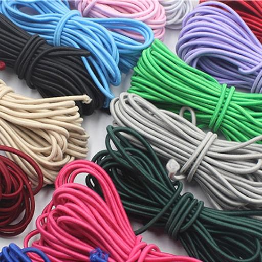 Cheap wholesale Colored Elastic Cords Rope Stretch Round Cord Rubber/latex string