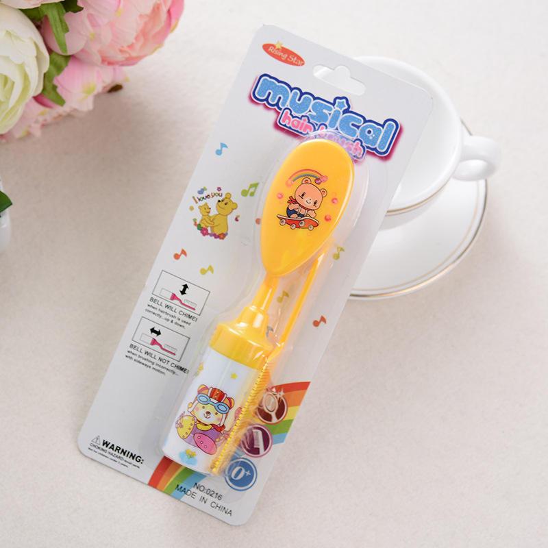 Colorful Baby Rattle Comb Oval Combt Baby Educational Toys Wholesale Baby Hair Brush And Comb Set