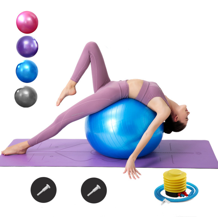 65cm PVC environmentally friendly new material thickened inflatable explosion-proof pregnant woman shaping yoga exercise ball