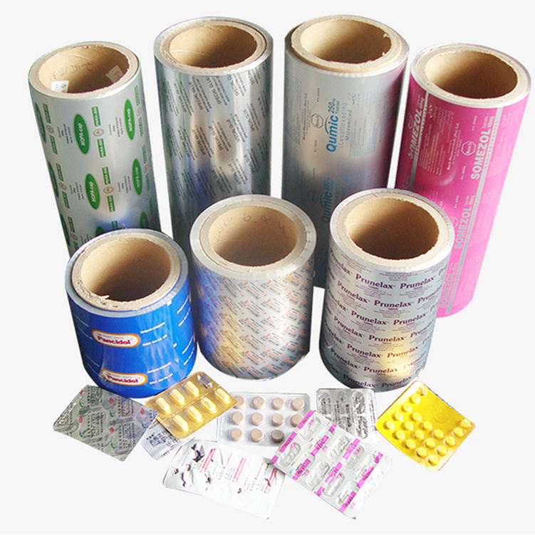 Unprinted Pharmaceutical half hard aluminum foil rolls blister packaging