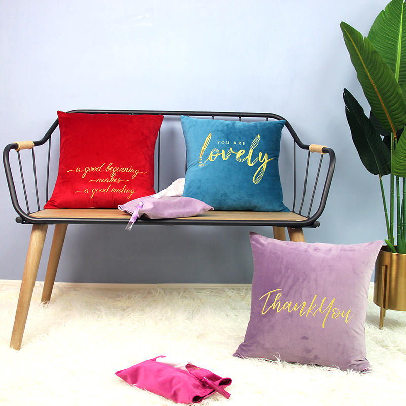 OEM Customized Embroidery Velvet Throw Pillow Cover
