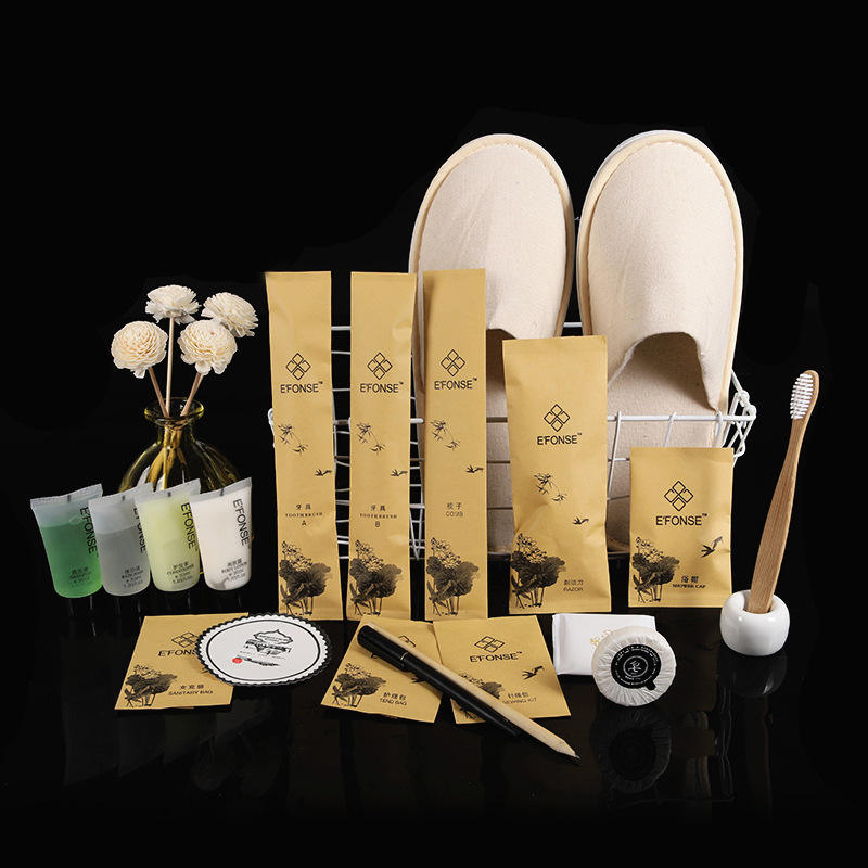 China export eco friendly 3-5 star hotel Disposable hotel bathroom amenities hotel guest amenities