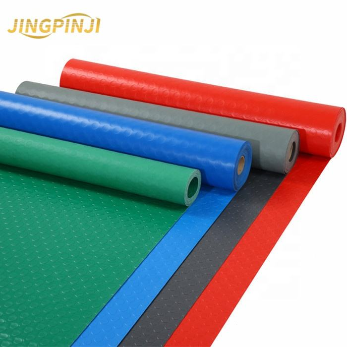 Anti slip heat resistant colorful skid-proof rubber mat roll board pvc rubber sheet