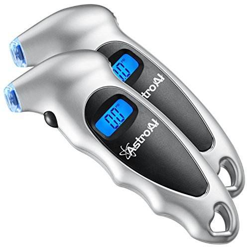 AstroAI ATG150 2 Pack Digital Tire Pressure Gauge 150 PSI 4 SettingsためCar Truck Bicycle